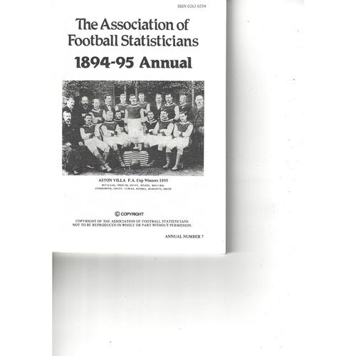 The Association of Football Statisticians 1894-95 Annual