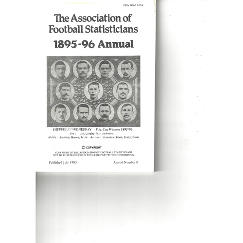 The Association of Football Statisticians 1895-96 Annual