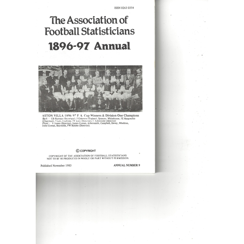 The Association of Football Statisticians 1896-97 Annual
