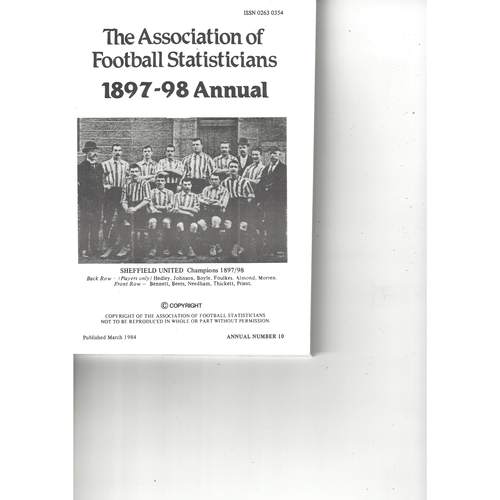 The Association of Football Statisticians 1897-98 Annual