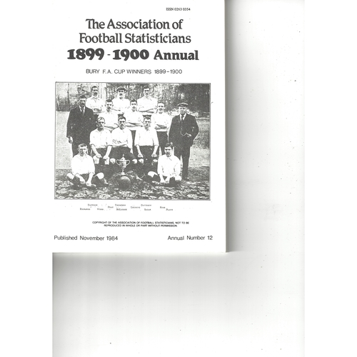 The Association of Football Statisticians 1899-1900 Annual