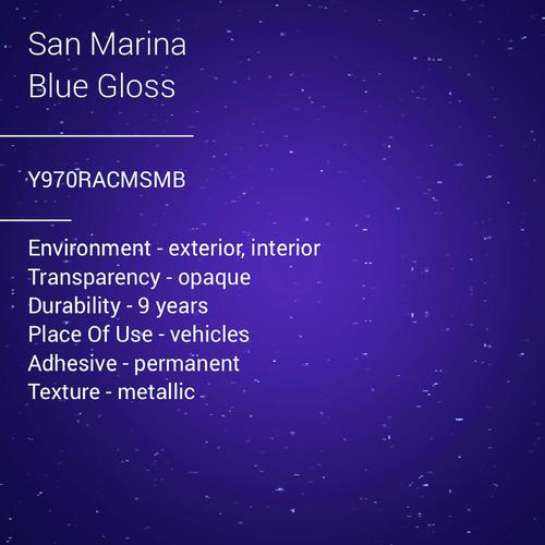 ORACAL® 970RA - San Marina Blue Gloss