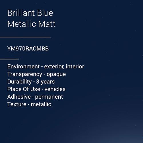 ORACAL® 970RA - Brilliant Blue Metallic Matt
