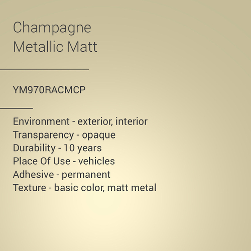 ORACAL® 970RA - Champagne Metallic Matt