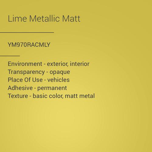 ORACAL® 970RA - Lime Metallic Matt