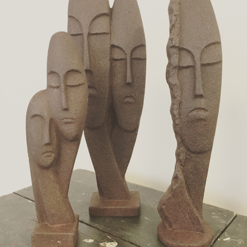 Collection of Brutalist Statues.