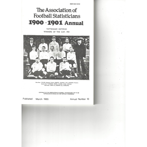 The Association of Football Statisticians 1900-1901 Annual