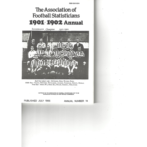 The Association of Football Statisticians 1901-1902 Annual