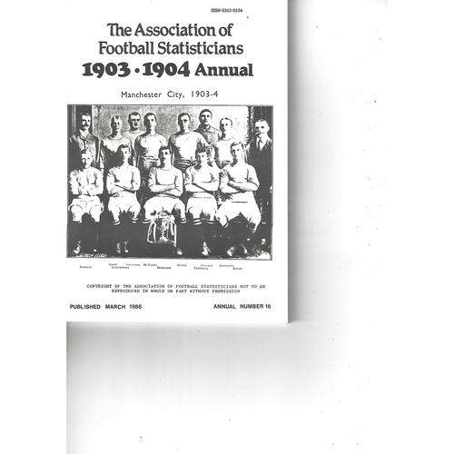The Association of Football Statisticians 1903-1904 Annual