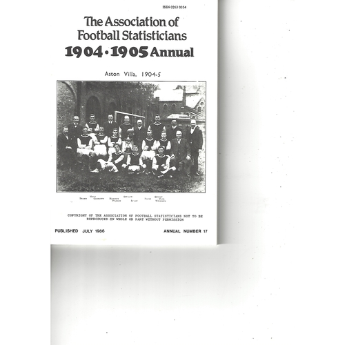 The Association of Football Statisticians 1904-1905 Annual