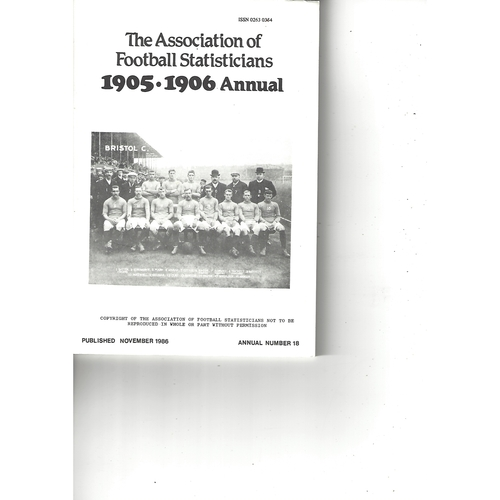 The Association of Football Statisticians 1905-1906 Annual