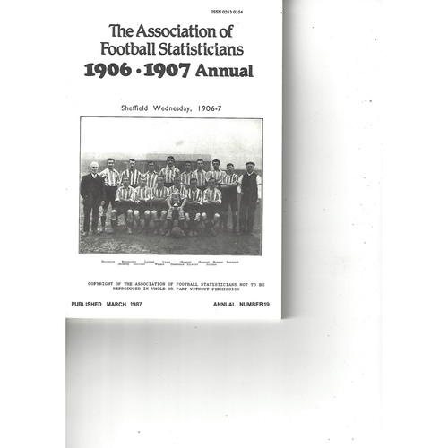 The Association of Football Statisticians 1906-1907 Annual