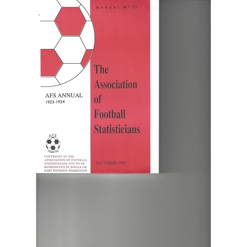 The Association of Football Statisticians 1923-1924 Annual No 32