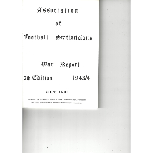 The Association of Football Statisticians War Report 5th Edition 1943-1944