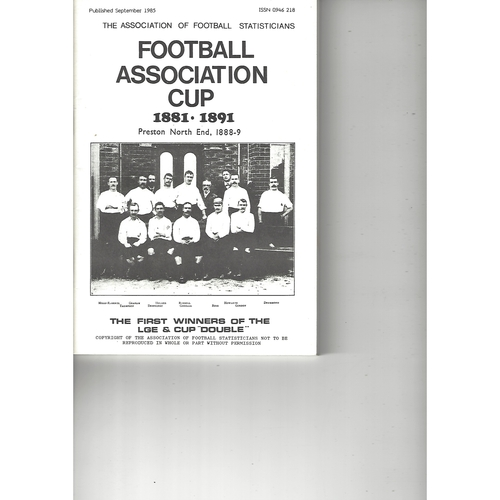 The Association of Football Statisticians Football Association Cup 1881-1891