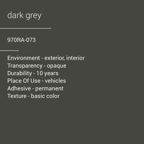 ORACAL® 970RA-073 - Dark Grey