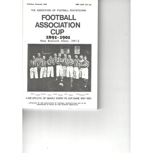 The Association of Football Statisticians Football Association Cup 1891-1901