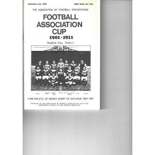 The Association of Football Statisticians Football Association Cup 1901-1911