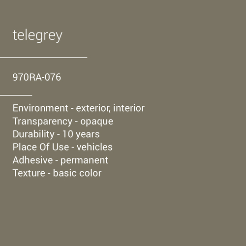 ORACAL® 970RA-076 -  Telegrey