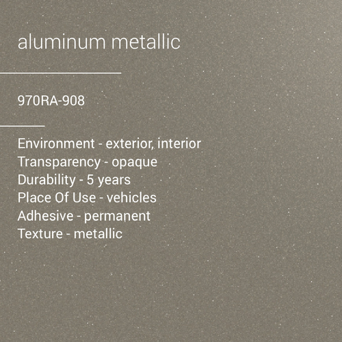 ORACAL® 970RA-908 -  Aluminum Metallic