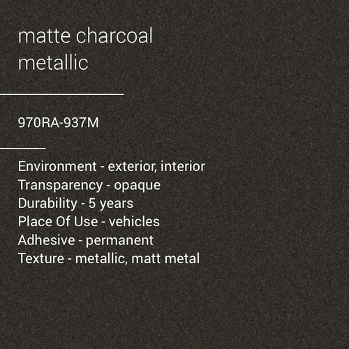 ORACAL® 970RA-937M - Matte Charcoal Metallic