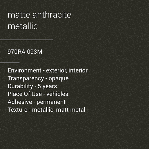 ORACAL® 970RA-093M - Matte Anthracite Metallic