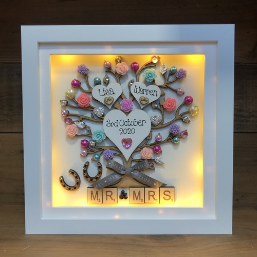 mr & mrs led box frame