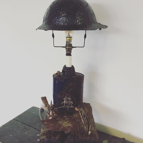 WW1 Military Relics Lamp.
