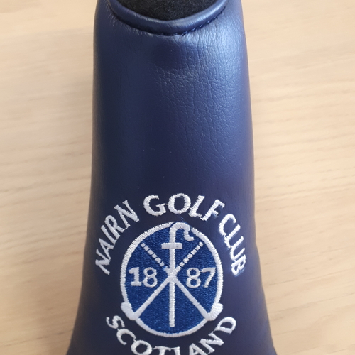 Nairn Golf Club AM&E Blade Putter headcover Navy