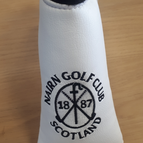 Nairn Golf Club AM&E Blade Putter headcover White