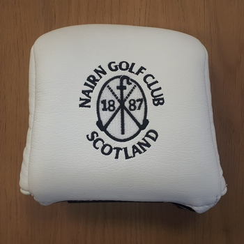 Nairn Golf Club AM&E Mallet Putter headcover White