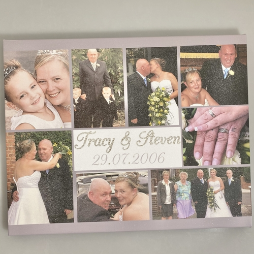 Glitter Personalised Photo Collage Canvas