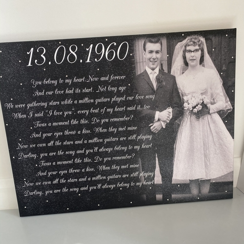 Glitter Faded Photo Canvas with Text