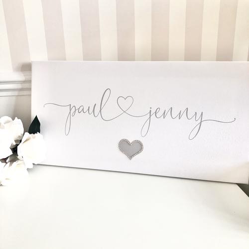 Glitter Canvas Names & Heart