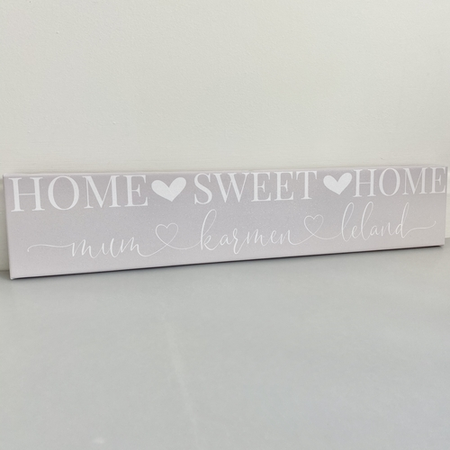 Glitter panoramic / plaque Home Sweet Home Personalised Canvas