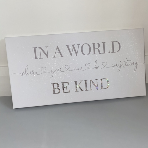 Be Kind Glitter Canvas