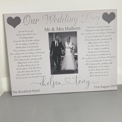 Wedding Song Photo Glitter Canvas (Design 1)