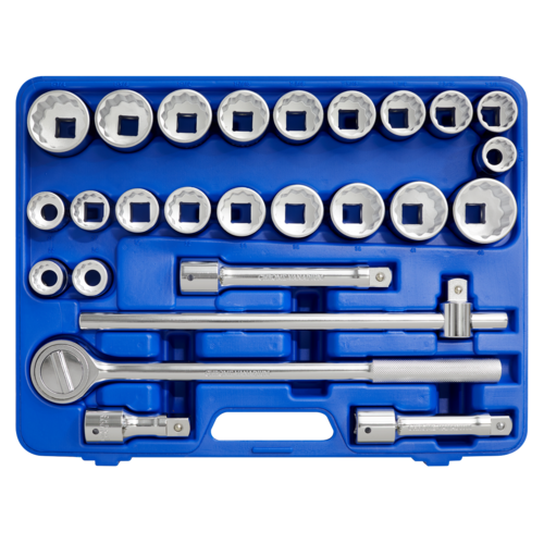 """Socket Set 26pc 3/4""""Sq Drive 12pt WallDrive® - Metric/Imperial - Sealey - AK2582"""