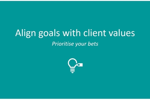 Align goals with client values