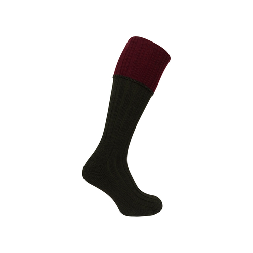 Hoggs of Fife Contrast Turn Over Top Socks