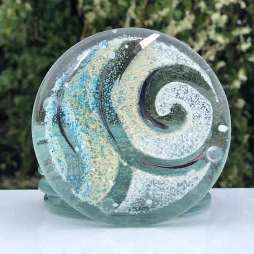 Crystal Aqua Coaster (Round)