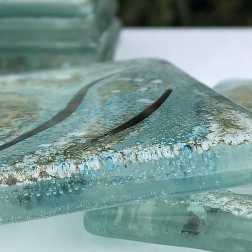 Crystal Aqua Coaster (Square)