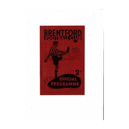 1946/47 Brentford v Blackpool Football Programme