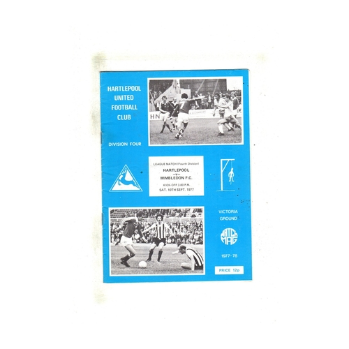 Wimbledon Away Football Programmes