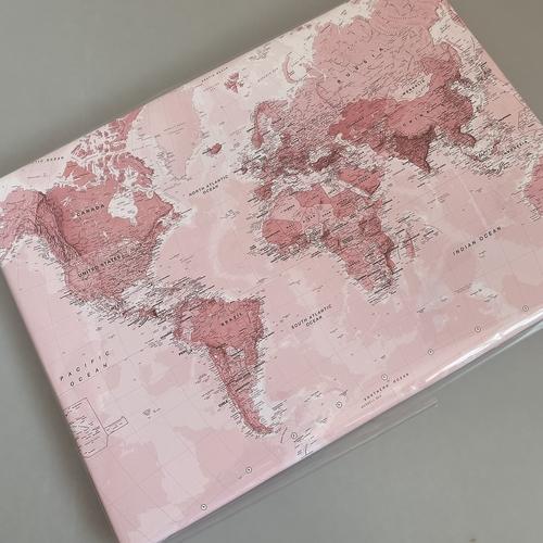 Pink map plain canvas