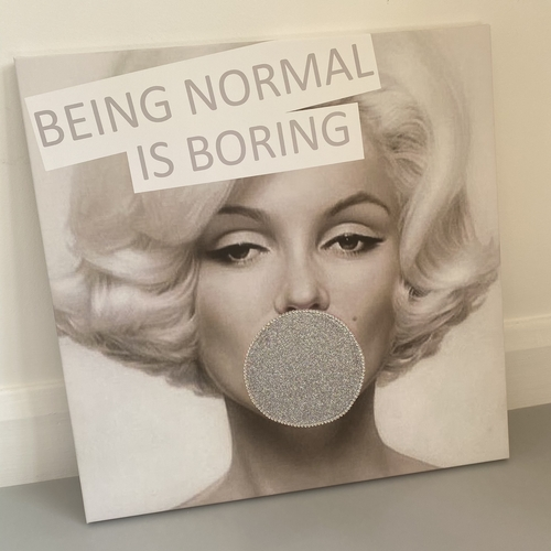 Marilyn glitter and crystal bubble (imperfect)