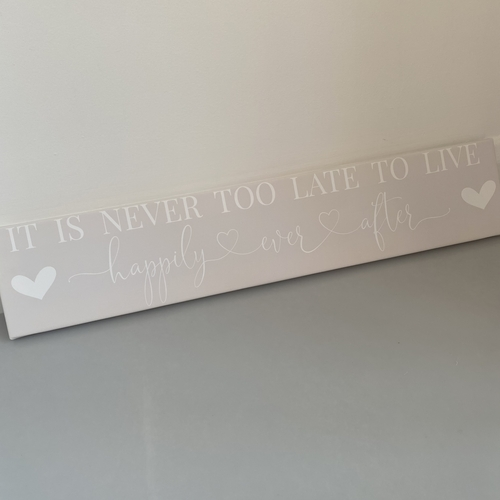 Happily ever after panoramic canvas
