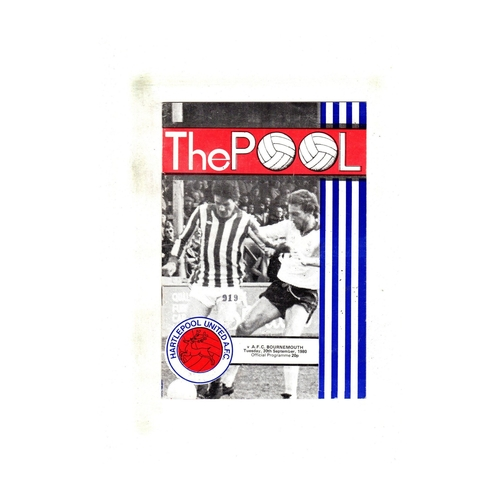 Hartlepool United Home Football Programmes