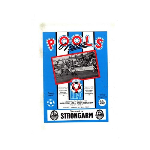 Hartlepool United Home Football Programmes