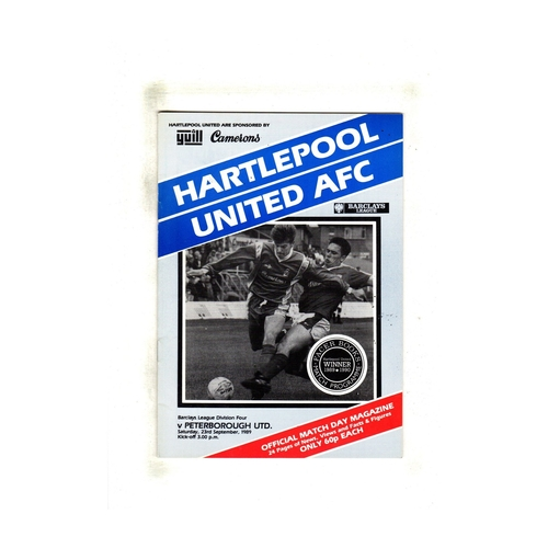 Peterborough United Away Football Programmes